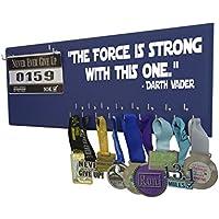 Running on the Wall – Race Bib and Medal表示rack-壁マウントスポーツメダルホルダーとハンガー5、K 10 K、マラソンランナー –