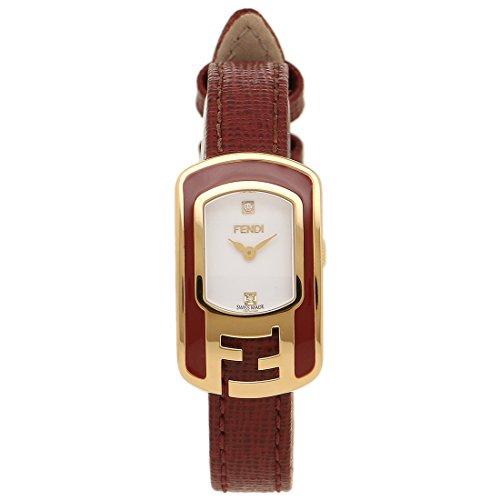 FENDI 時計 フェンディ F317424073D1 カメレオン レディース腕時計 ウォッチ ホワイト/レッド/ゴールド [並行輸入品]
