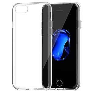 """iPhone 7 ケース, JEDirect iPhone 7 ケース 衝撃吸収バンパー 擦り傷防止 クリアバック アップルアイフォン7 4.7""""インチ用 (HDクリア) - 3421A"""