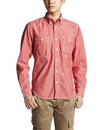 Organic Chambray Work Shirt 3211-199-1385: Red