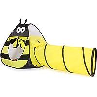 子供の遊びのテントトンネル赤ちゃん遊び家屋内遊園地簡単な折り畳みクロール (Color : Yellow, Size : 44 * 110 * 90cm)