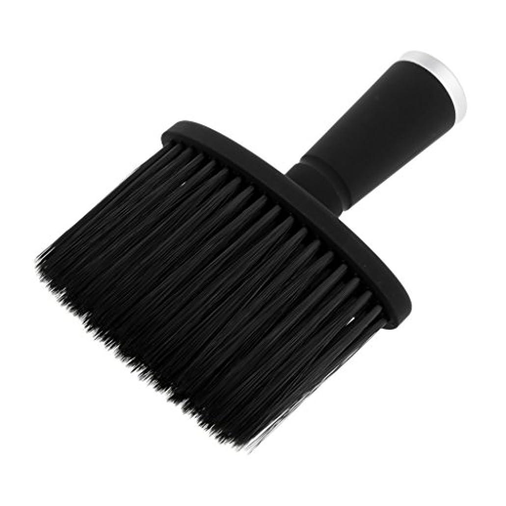 ホット化学二十大広間のスタイリストの理髪師の毛の切断の構造用具のための柔らかい首の塵払いのブラシ - 銀
