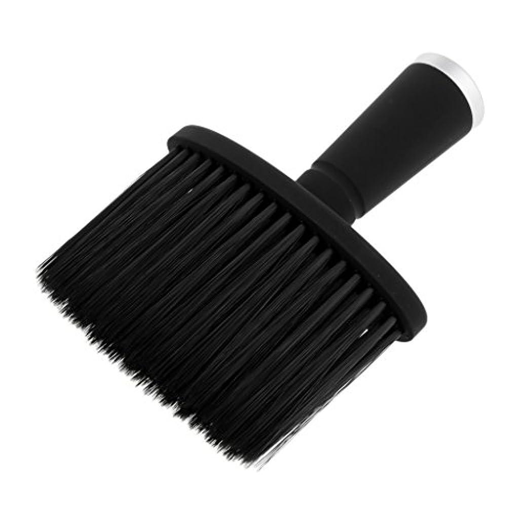 委員長理論的そよ風Fenteer ネックダスターブラシ ヘアカット ヘアブラシ ヘアスタイリスト 理髪 高品質 合成繊維+プラスチック 全2色 - 銀