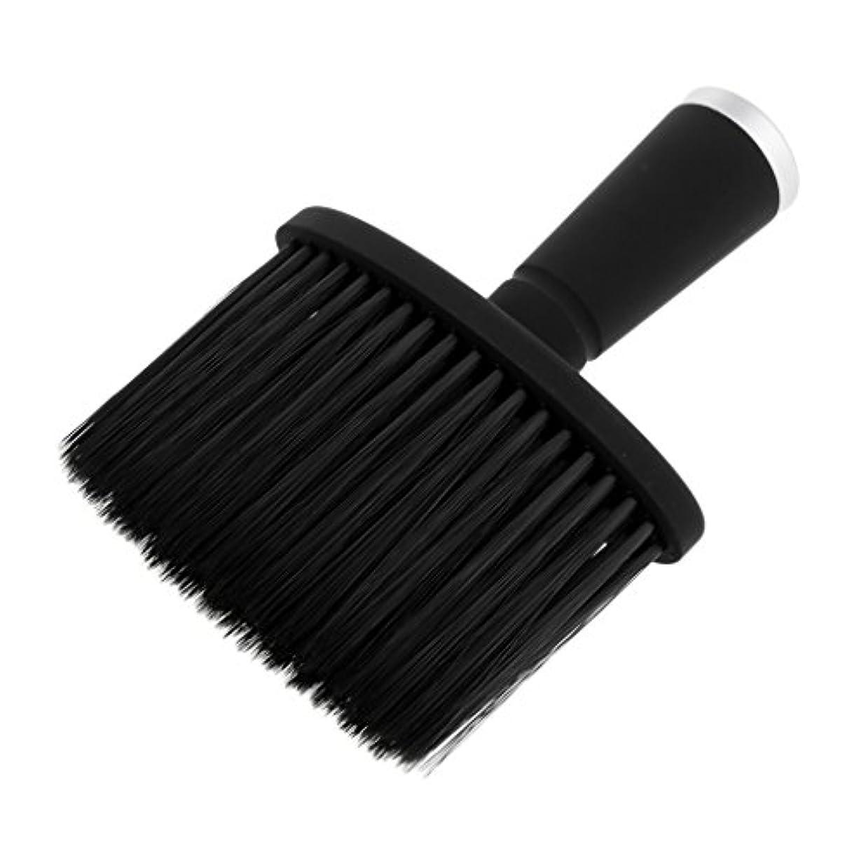 ミリメートル地下不条理ソフトネックダスターブラシサロンのためのスタイリストの理髪髪ヘアカットメイクツール - 銀