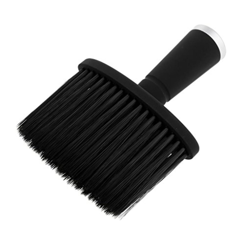 手伝うガイドリルソフトネックダスターブラシサロンのためのスタイリストの理髪髪ヘアカットメイクツール - 銀