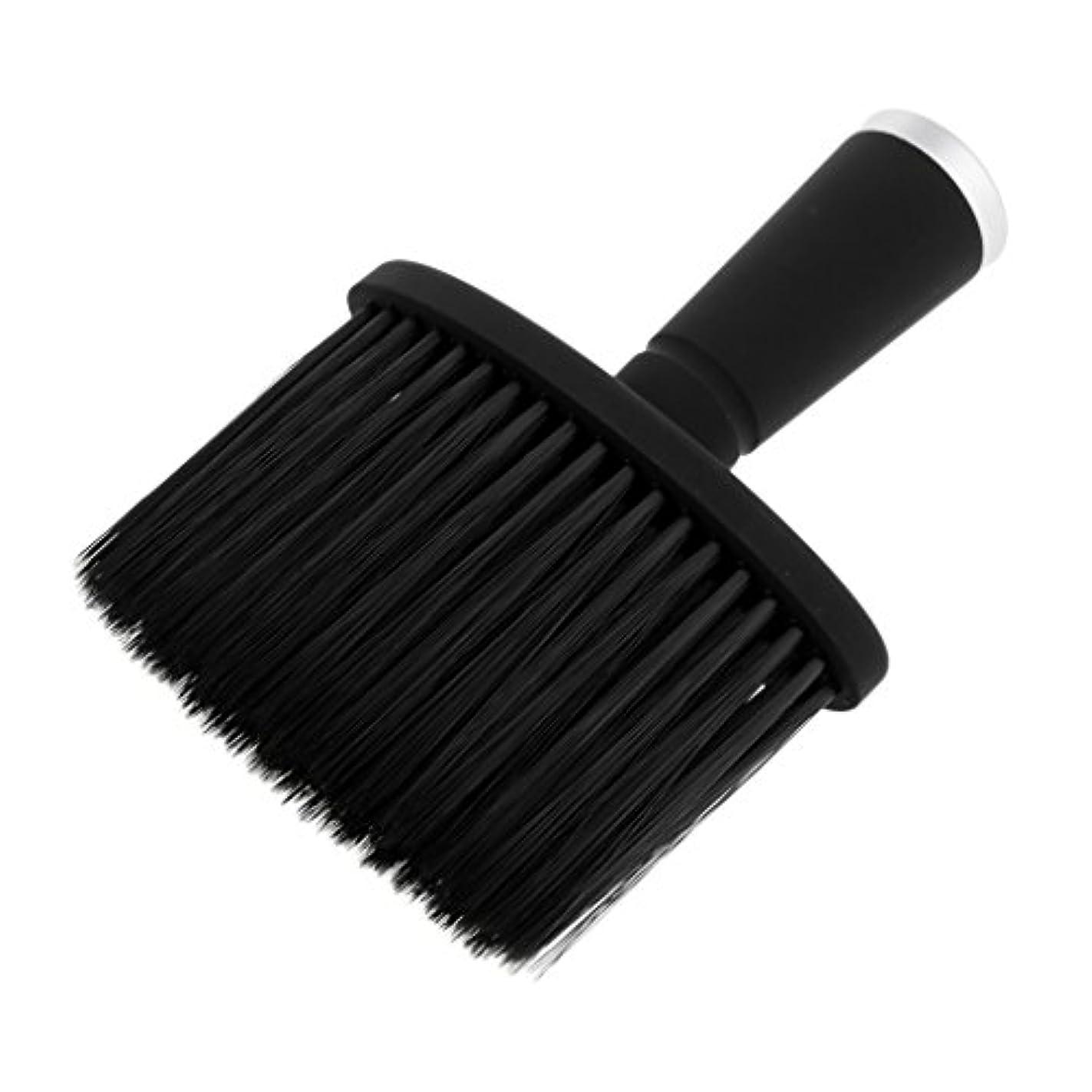 第九伸ばすちらつきT TOOYFUL ソフトネックダスターブラシサロンのためのスタイリストの理髪髪ヘアカットメイクツール - 銀