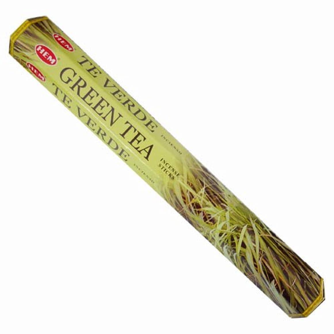 熟練した少し皮肉HEM(ヘム) スティックお香/六角香/ヘキサパック GREEN TEA(グリーンティー)