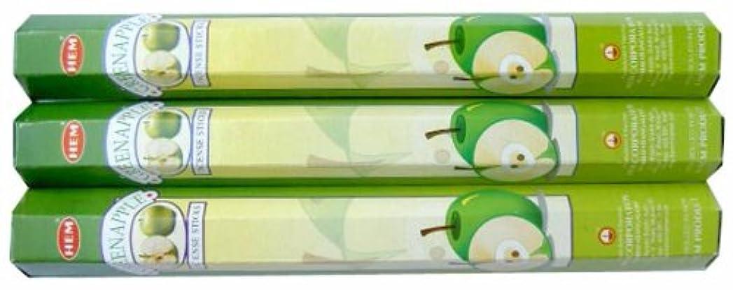 トランジスタオーバーラン誇りに思うHEM グリーンアップル 3個セット
