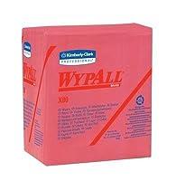 "Kimberly-Clark 41041 Wypall X80 Wipe, 12.5"" Length, 16.8"" Width, Pop-Up Box, Blue (Pack of 160) [並行輸入品]"
