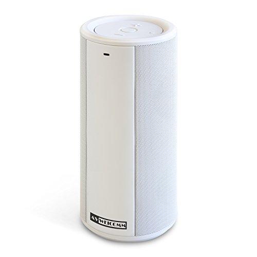 KYOHAYA AV WEICOMM ポータブル Bluetooth4.0 ステレオスピーカー ワイヤレススピーカー 内蔵マイク搭載 ホワイト JKSP-BT126WH