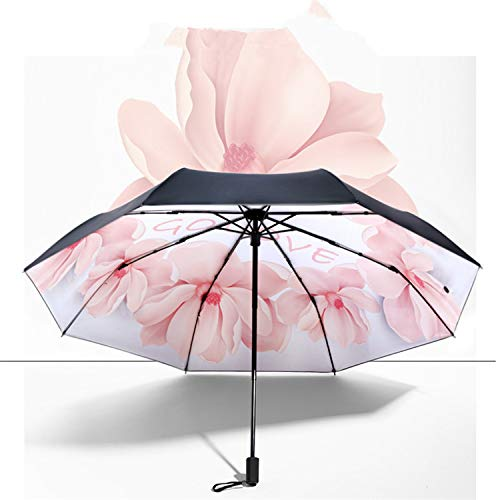 Laluna 日傘 折り畳み傘 レディース 8本骨 耐風 撥水折り畳み傘 210T 高密度黒グルー塗布 UVカット 遮光傘 晴雨兼用折りたたみ傘