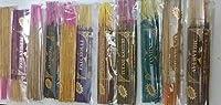 無料サンダルウッドVariety Pack in Herbal Treat Agarbatti | Frankincense | Nag Champa | Patchouli |ジャスミン|ペルシャローズ| Ayurvedic | Maddipal | Kesar Saffron | Tulasi Lobhan | Tulasi Kasturi | Incense Sticks Set of 10Fragrances