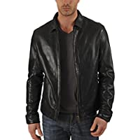 Genuine Leather Jacket for Men Motorcycle Slim Fit Biker Lambskin Leather Jackets