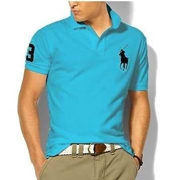 (ポロ ラルフローレン)POLO RALPH LAUREN メンズ ビッグポニー ポロシャツ カスタムフィット ターコイズ XL 並行輸入品