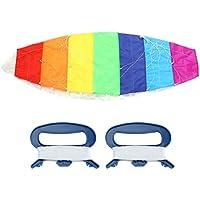gloglow Huge Rainbow Kite Stunt電源Flying KiteアウトドアデュアルラインサーフィンParafoil Funビーチスポーツトイ 1.4m / 4.59ft GLOGLOWpsrumy4h6x-01