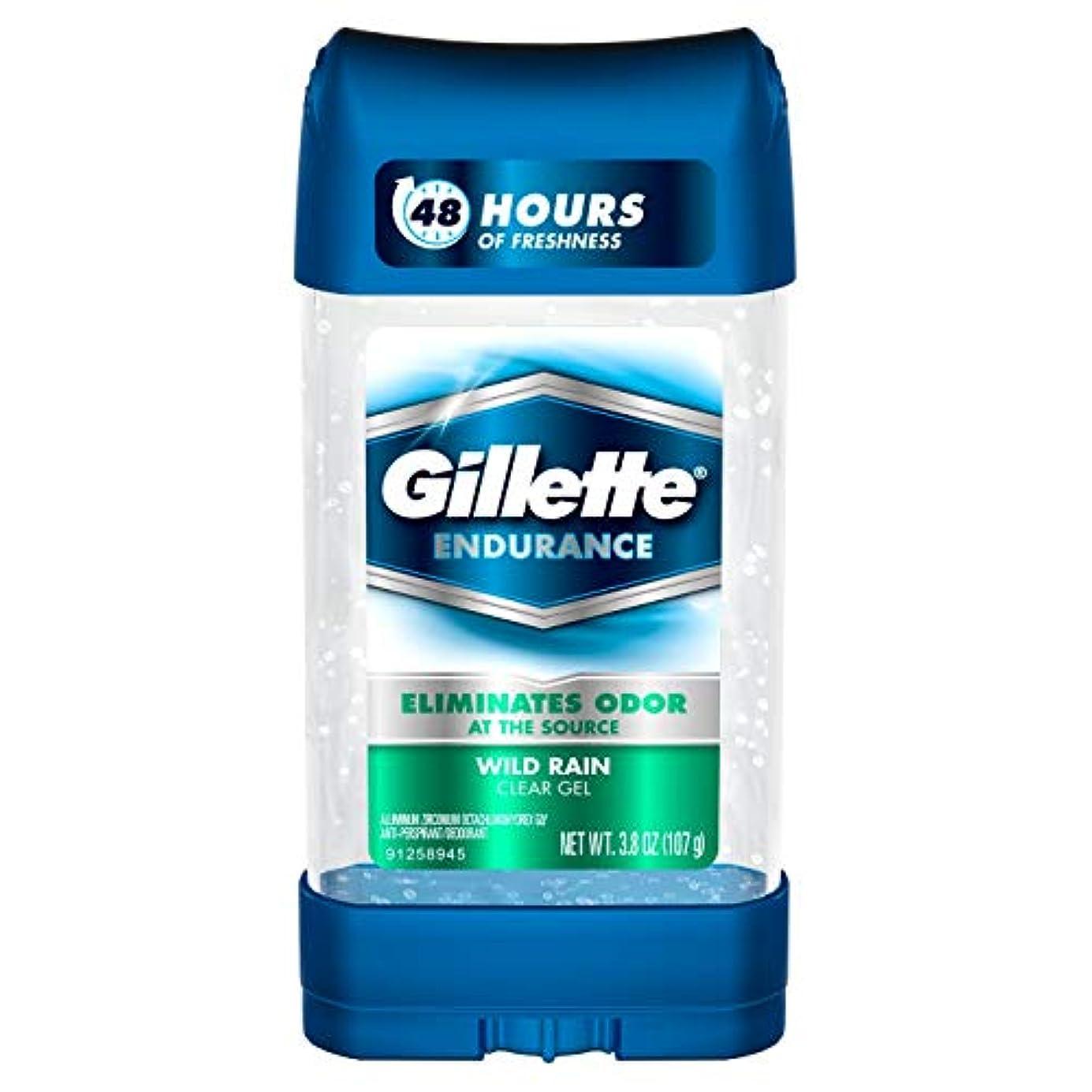 擬人化トーナメントかみそりGillette Endurance Clear Gel, Wild Rain - 3.8 oz (107g) [並行輸入品]