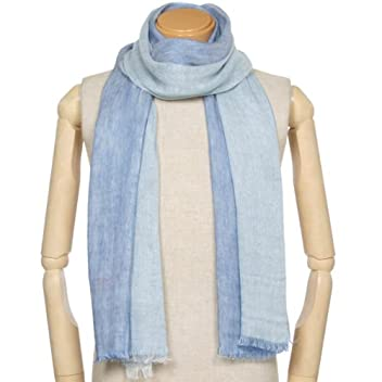 Linen Scarf 1351988: Blue