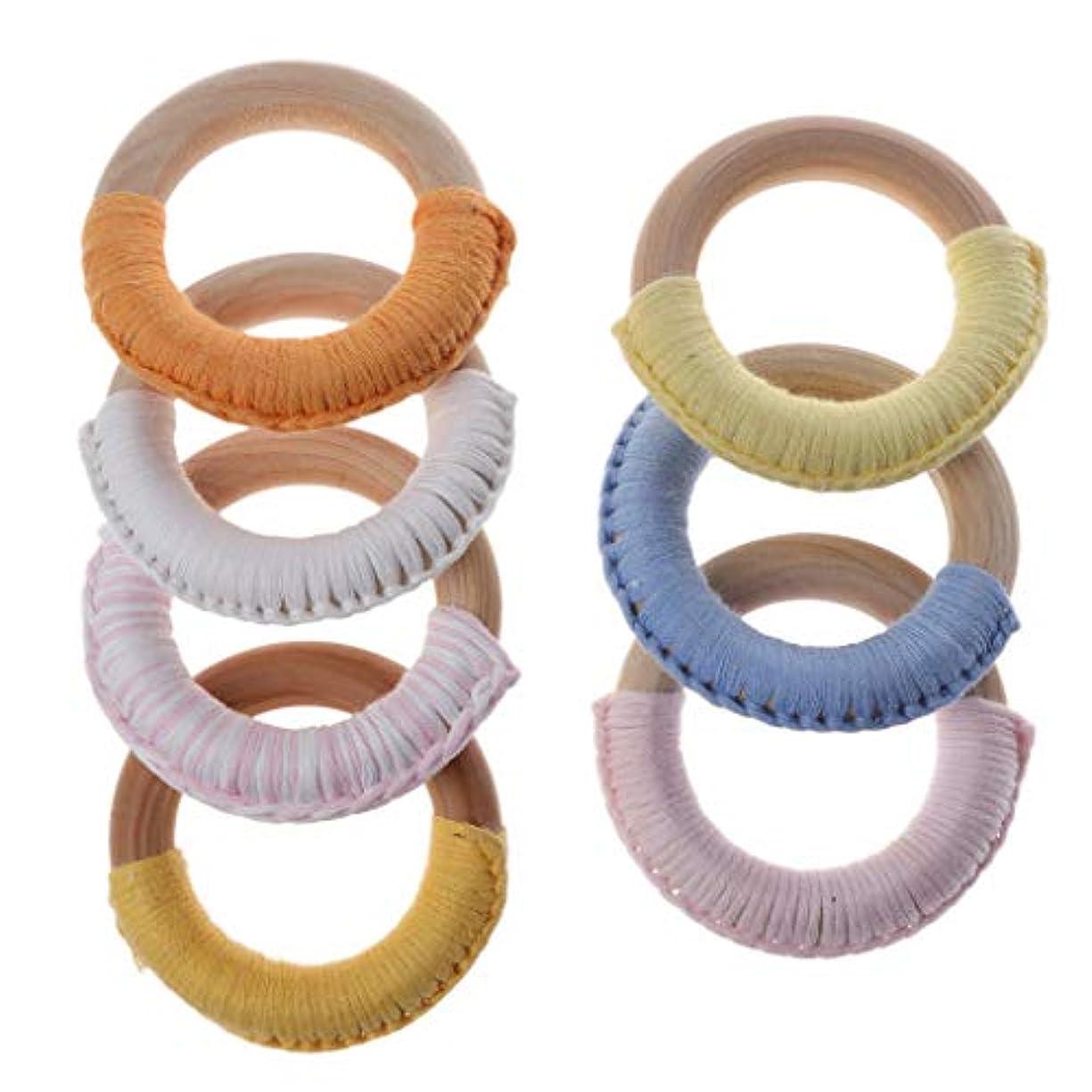 刺繍発見ダンスLanddumシリコーンビーズ赤ちゃん木製ウールティーザーリング赤ちゃん看護玩具かむ玩具歯を作るガラガラおもちゃ - 色ランダム