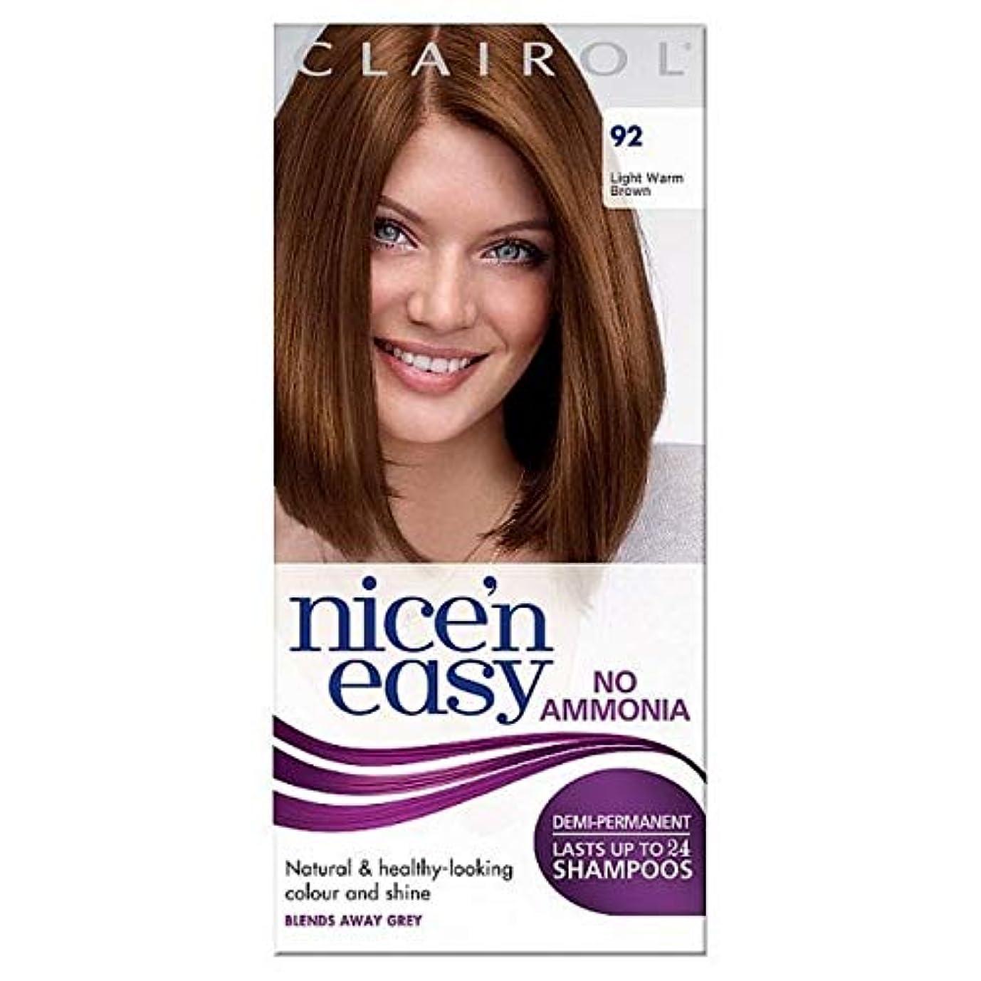 不毛ステートメント努力[Nice'n Easy] Nice'N簡単に無アンモニア染毛光暖かいブラウン92 - Nice'n Easy No Ammonia Hair Dye Light Warm Brown 92 [並行輸入品]