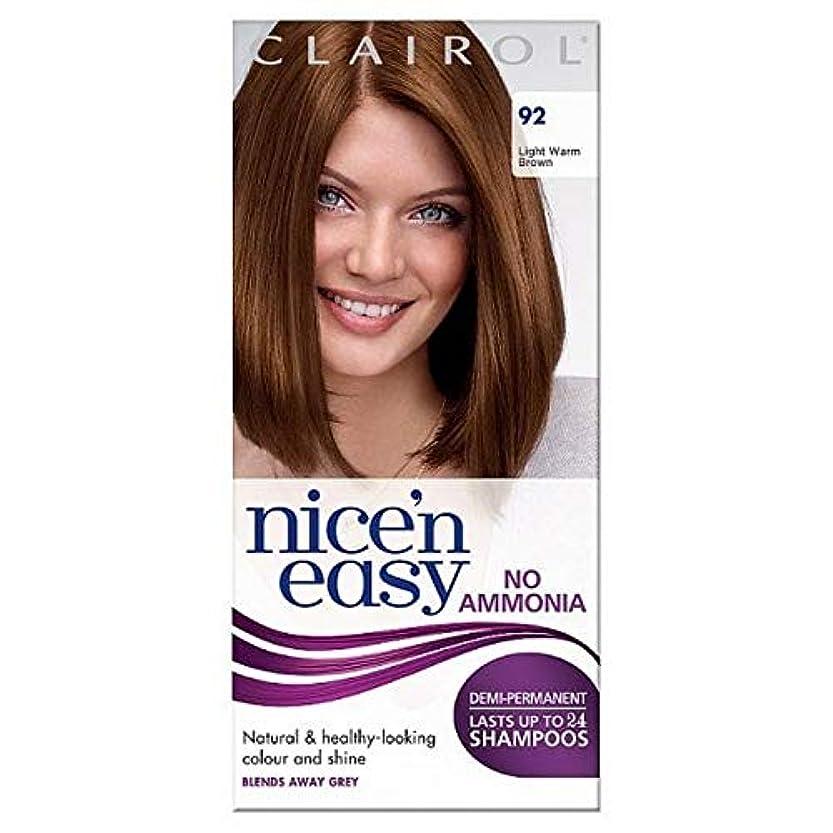 放棄された姿勢敬な[Nice'n Easy] Nice'N簡単に無アンモニア染毛光暖かいブラウン92 - Nice'n Easy No Ammonia Hair Dye Light Warm Brown 92 [並行輸入品]