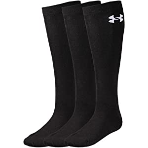 (アンダーアーマー)UNDER ARMOUR UA BB CC SOLID SOCKS 3P 1313603 BLK/WHT MD