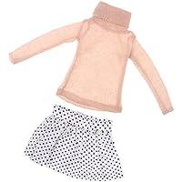 Fenteer 人形飾り アクセサリー 1/3 BJD SDドールアクセサリー セーター スカート 全5カラー - ベージュ