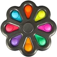BEAUTY PLAYER Fidget Spinner Push Pop Fidget Toy Push Pop Pop Bubble Sensation Decompression Goods Stress Reli