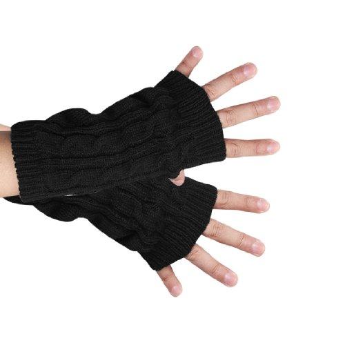 uxcell 指なし 手袋 ニット 手首...