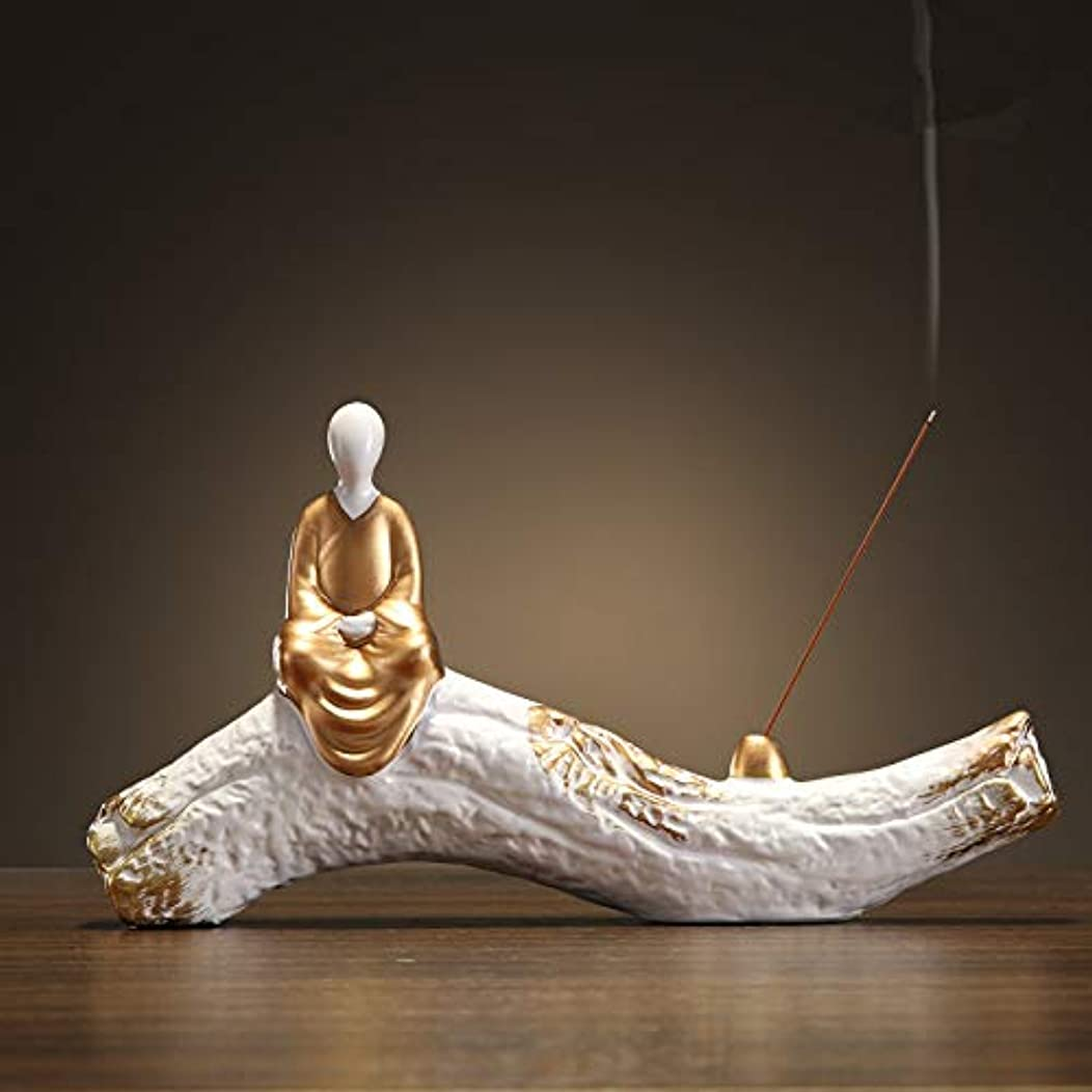神経障害終わりブロッサム香炉手作り陶芸香炉コイル仏教香炉仏Bu炉香炉香スティックフレーム29 * 15.5cm