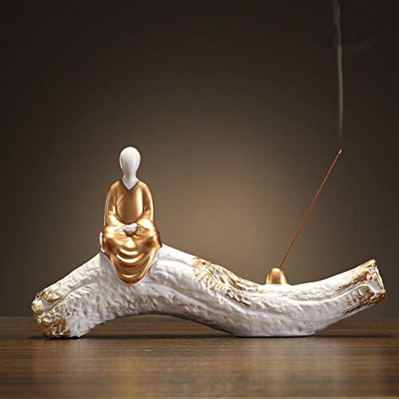 想起それぞれルアー香炉手作り陶芸香炉コイル仏教香炉仏Bu炉香炉香スティックフレーム29 * 15.5cm