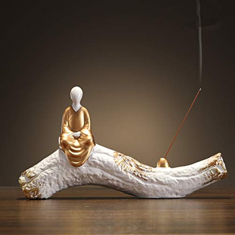 引数敵対的オーバーヘッド香炉手作り陶芸香炉コイル仏教香炉仏Bu炉香炉香スティックフレーム29 * 15.5cm