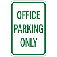 New PVC and Novelty Signs by Silk@Road-Weatherproof-Size 12''x18'' for Outdoor Use (Office Parking Only) [並行輸入品]
