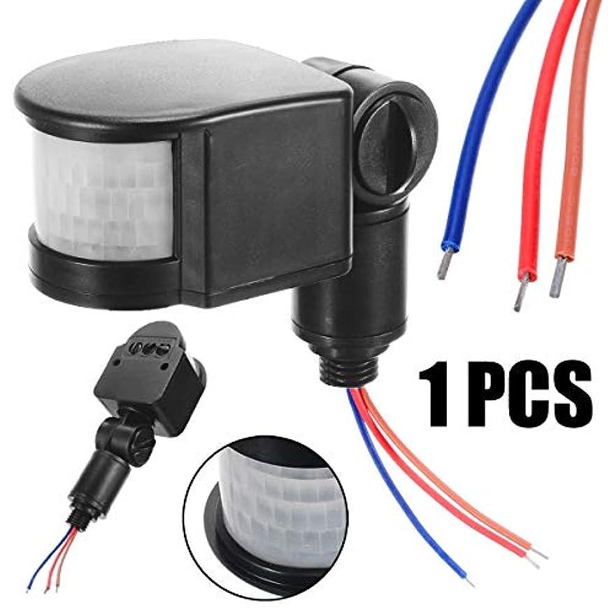 軍艦興味もろい屋外LED赤外線PIRモーションセンサー検出器110-220Vウォールライト140度モーションセンサーライトスイッチ1個 (サイズ : AC110V~240V)