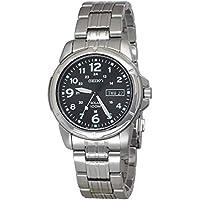 Seiko Men SNE095P Year-Round Analog Solar Powered Silver Watch