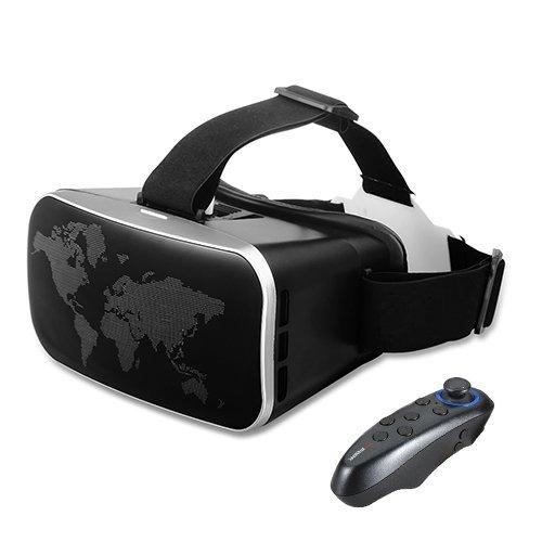 Cocopa 3D VRゴーグルVRヘッドセット Bluetoothコントローラ リモコン付け4.0-6.0インチのスマホに対応 3...