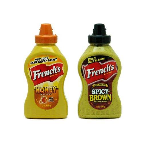 フレンチ ハニーマスタード&スパイシーブラウン・マスタード  French's Honey Mustard & Spicy Brown MustardGoldfish