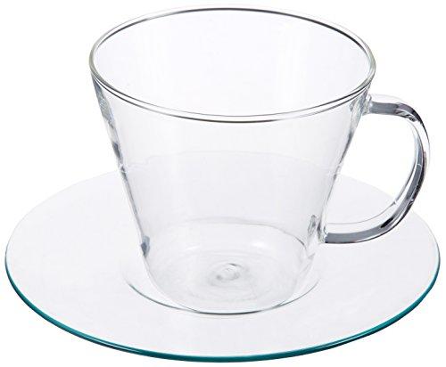 アデリア 耐熱ガラス ティーカップ&ソーサー 240ml ラビア ティーカップ&ソーサー ストレート H-8593