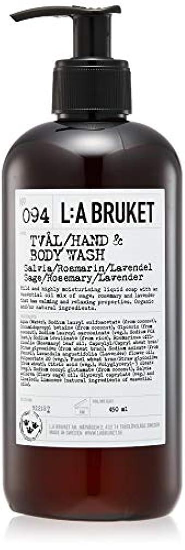 学校教育探検ノーブルL:a Bruket (ラ ブルケット) ハンド&ボディウォッシュ (セージ?ローズマリー?ラベンダー) 450g