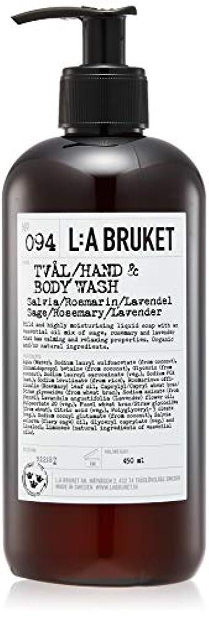 ハード記事コンパニオンL:a Bruket (ラ ブルケット) ハンド&ボディウォッシュ (セージ?ローズマリー?ラベンダー) 450g