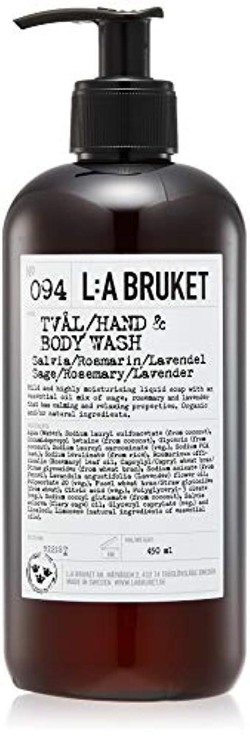 好きであるブラインド適切なL:a Bruket (ラ ブルケット) ハンド&ボディウォッシュ (セージ?ローズマリー?ラベンダー) 450g