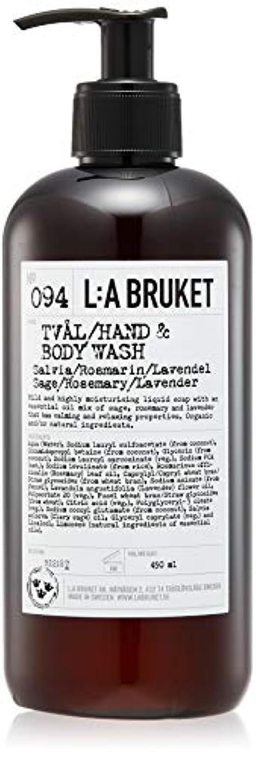 大量獲物ストレスL:a Bruket (ラ ブルケット) ハンド&ボディウォッシュ (セージ?ローズマリー?ラベンダー) 450g
