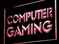 ADVPRO Computer Gaming Internet Cafe Shop LED看板 ネオンプレート サイン 標識 Red 600 x 400mm st4s64-i865-r
