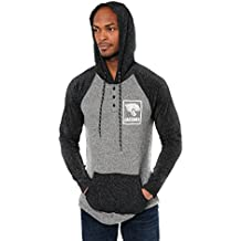Icer Brands Mens NFL Men's Henley Pullover Hoodie Sweatshirt, New York Giants JTM2094A-NG-L-P