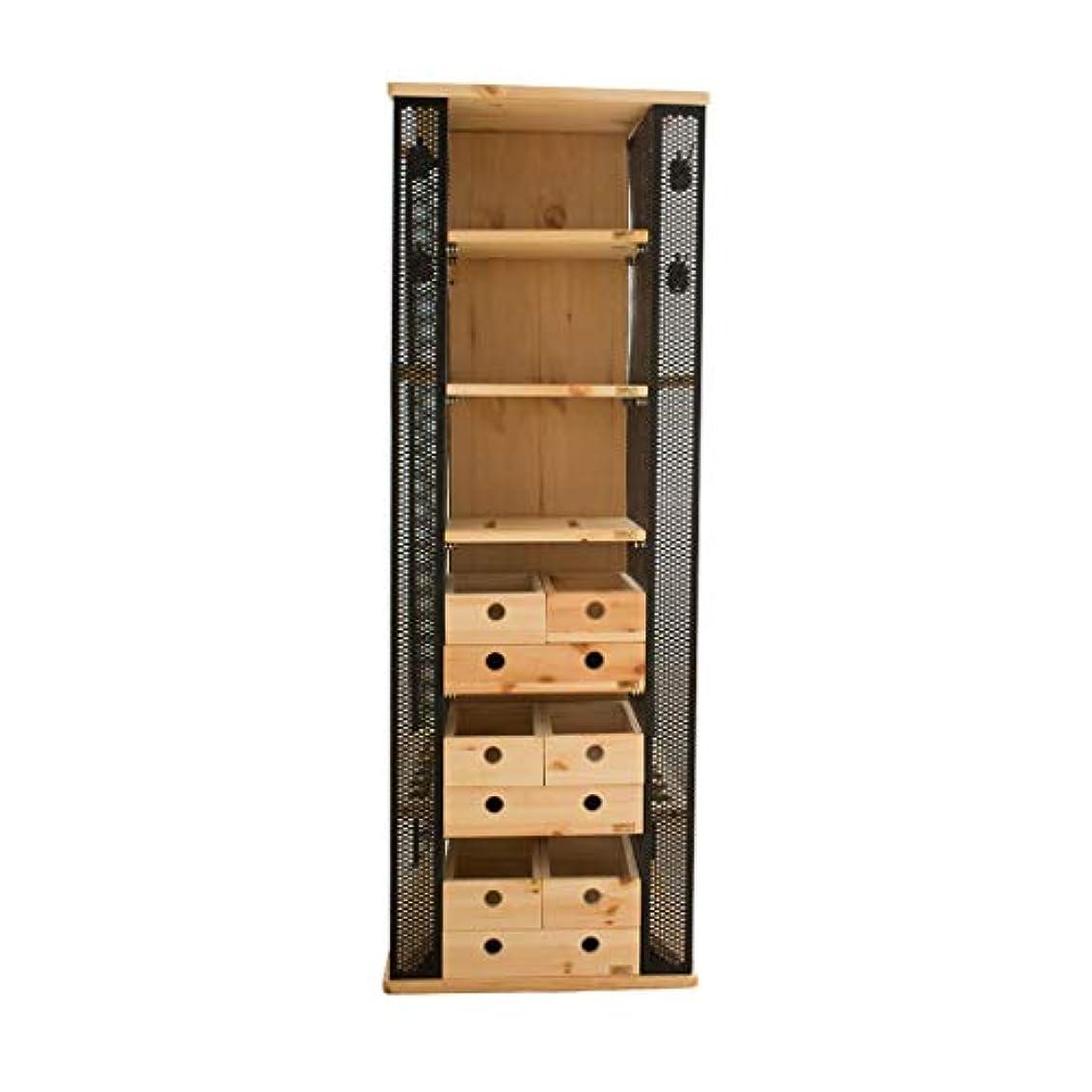 画面変装いつでも14釣竿多機能ディスプレイキャビネット釣竿ディスプレイラック収納ラック (Color : Wood color, Size : 42 * 45 * 122cm)