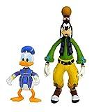 ダイヤモンドセレクトトイ キングダムハーツ3:Goofy & Donald アクションフィギュア 2パック、マルチカラー