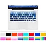 MacBook Air/Pro 日本語 キーボードカバー【HRH】 (JIS配列) 〈 年上のMacBook Air 13/Pro Retina 13,15インチ用〉キーボード防塵カバー 日本語 JIS配列 キースキン 多色選択可能 (ブルーグラデーション)
