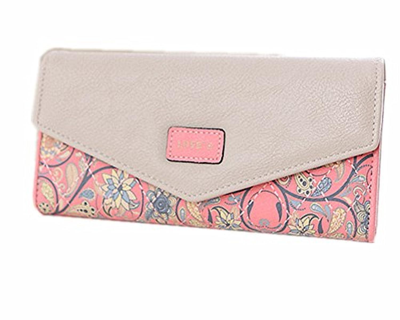 【フェアーフェアリー】 Fair Fairy 長財布 レディース 二つ折り ウォレット ペーズリー フラワー チック柄刺繍模様 151201