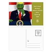 アメリカ 大統領悲しいカエルトランプの画像 詩のポストカードセットサンクスカード郵送側20個