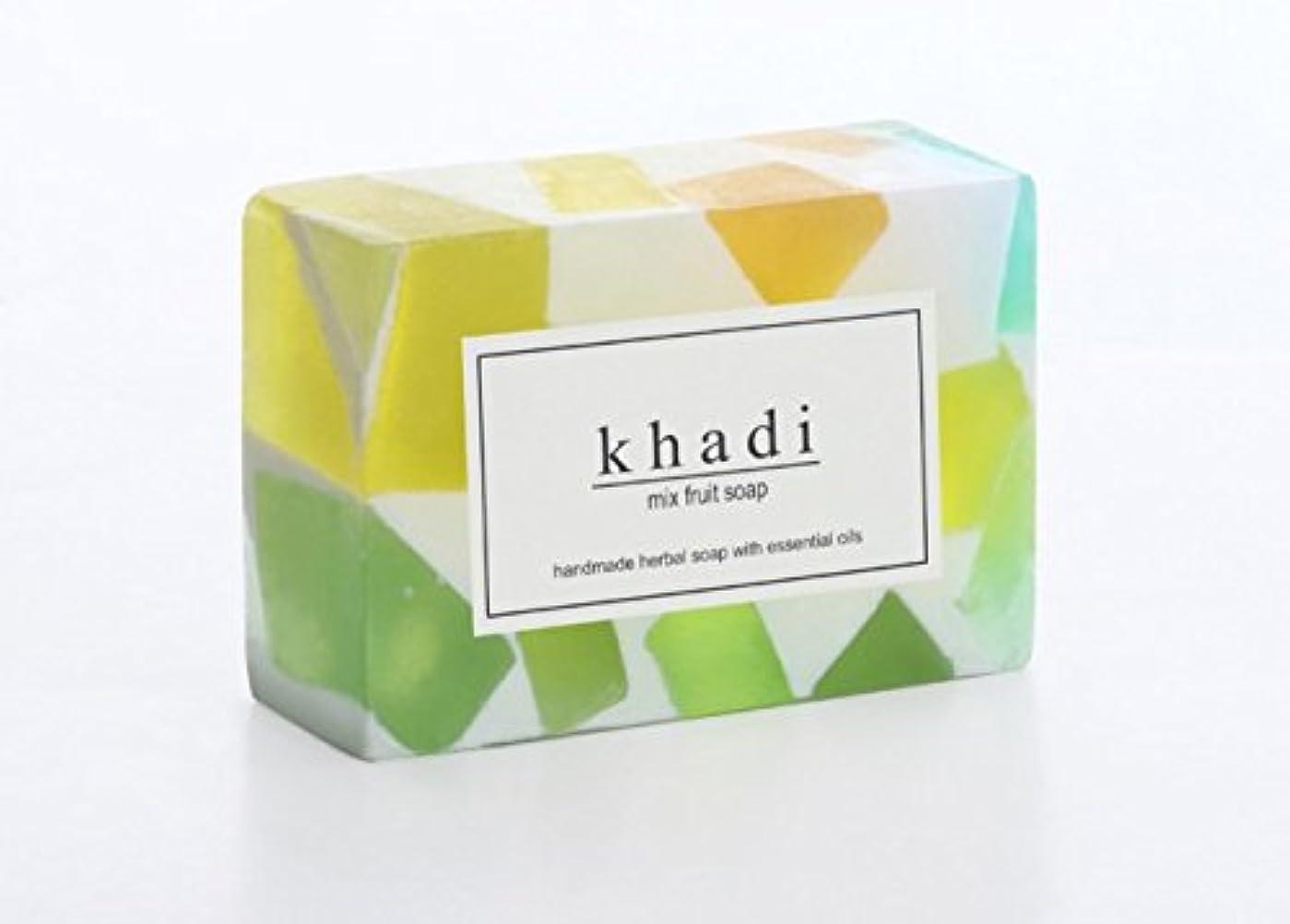 大胆不敵欠点製油所Khadi Natural Mix Fruit Soup(ミックスフルーツ石鹸)125g 6個セット [並行輸入品]