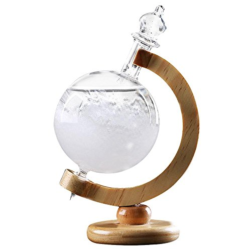 Pawaca 地球儀ストームグラス 天気予報器 結晶観察器 ...